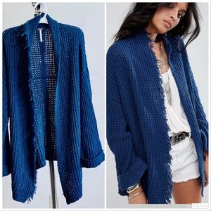 FREE PEOPLE silk knit mix Boho Cardigan